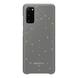 Samsung Galaxy S20 LED View Polycarbonate Back Case Cover (EF-KG980CJEGIN, Grey)_1