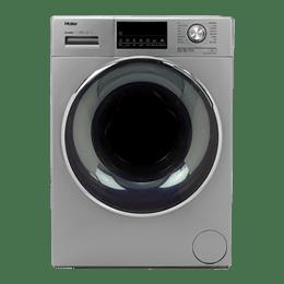 Haier 8 Kg Automatic Front Loading Washing Machine (HW80-DM14876TNZP, Titanium Grey)_1