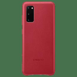 Samsung Galaxy S20 Genuine Leather Back Case Cover (EF-VG980LREGIN, Red)_1