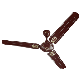 Bajaj New Bahar Deco 120cm Sweep 3 Blade Ceiling Fan (Double Ball Bearing, 250839, Brown)_1