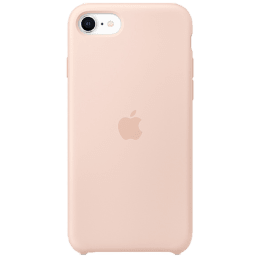 Apple iPhone SE Silicone Back Case Cover (MXYK2ZM/A, Pink Sand)_1