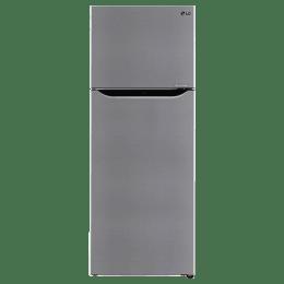 LG 284 Litres 2 Star Frost Free Inverter Double Door Refrigerator (Door Cooling+, GL-T302SPZY.APZZEB, Shiny Steel)_1