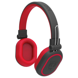 Ant Audio Treble Bluetooth Headphones (1200, Black and Red)_1
