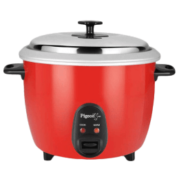 Pigeon 1.8 Litres Electric Rice Cooker (Removable Inner Pot, SDX, Red)_1