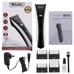 Wahl Performer Stainless Steel Blades Cordless Clipper (Heavy-Duty Motor, 79803-024, Black)_1