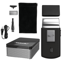 Wahl Stainless Steel Blades Cordless Shaver (Lithium-ion Battery, 03615-024, Black)_1