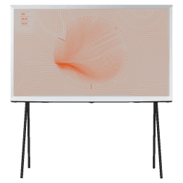 Samsung The Serif LSO1T 138 cm (55 inch) 4K UHD QLED Smart TV (360 All Round Design, QA55LS01TAKXXL, Cloud White)_1