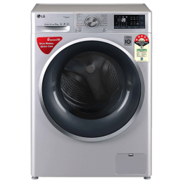 LG 8 Kg 5 Star Fully Automatic Front Loading Washing Machine (FHT1408ZWL.ALSQEIL, Silver)_1