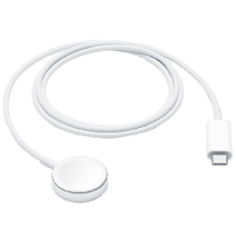 Apple 1 Meter USB 3.0 (Type-C) to Lightning Power/Charging Magnetic USB Cable (For Apple Watch, MX2H2ZM/A, White)_1