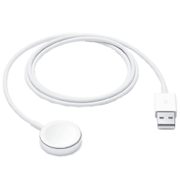 Apple 1 Meter USB 3.0 (Type-C) to Lightning Data Transfer & Power/Charging Magnetic USB Cable (For Apple Watch, MX2E2ZM/A, White)_1
