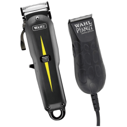 Wahl Professional All Star Combo Super Taper Clipper and Peanut Trimmer (08331-024, Black)_1