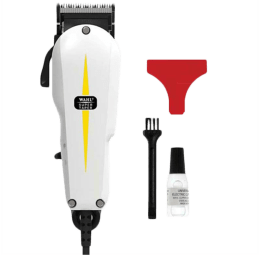 Wahl Super Taper Stainless Steel Blades Corded Clipper (Detachable Head, 08466-424, White)_1