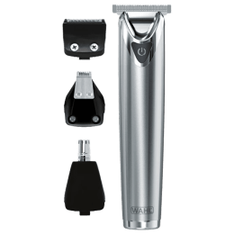 Wahl Lithium-Ion+ Self-sharpening Precision Blades Rechargeable Beard Trimmer (09864-024, Silver)_1