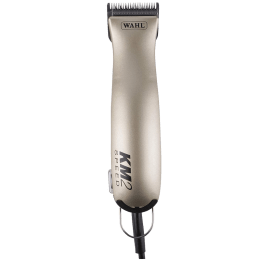 Wahl KM2 Professional 2 Speed Corded Rinseable Detachable Blades Pet Clipper (01247-0010, Silver)_1