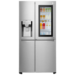 LG 668 Litres Frost Free Inverter Side-by-Side Door Refrigerator (InstaView Door-in-Door, GC-X247CSAV.BNSQEB, Noble Steel)_1