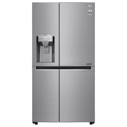 LG 668 Litres Frost Free Inverter Side-by-Side Door Refrigerator (Multi Air Flow, GC-L247CLAV.BPZQEB, Shiny Steel)_1