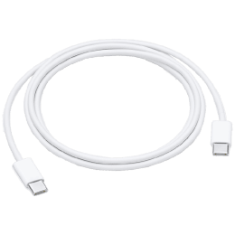 Apple 1 Meter USB 3.0 (Type-C) to USB 3.0 (Type-C) Data Transfer & Power/Charging USB Cable (For iPhones, MUF72ZM/A, White)_1