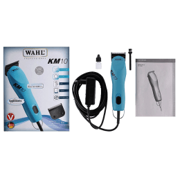 Wahl KM10 Professional 2 Speed Corded Rinseable Detachable Blades Pet Clipper (01261-0010, Blue)_1