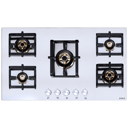 Elica Inox Pro FB MFC 5B 90 MT FFD 5 Burner Stainless Steel Built-in Gas Hob (Automatic Ignition, 3026, Steel)_1