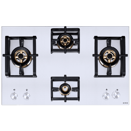 Elica Inox Pro FB MFC 4B 91 DX FFD 4 Burner Stainless Steel Built-in Gas Hob (Automatic Ignition, 3022, Steel)_1