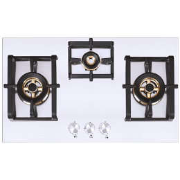 Elica Inox Pro FB MFC 3B 75 DX FFD 3 Burner Stainless Steel Built-in Gas Hob (Automatic Ignition, 3020, Steel)_1