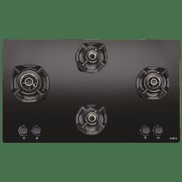 Elica Classic Flexi AB MFC 4B 91 MT 4 Burner Glass Built-in Gas Hob (Automatic Ignition, 3088, Black)_1