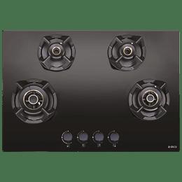 Elica Classic Flexi AB MFC 4B 75 MT 4 Burner Glass Built-in Gas Hob (Automatic Ignition, 3086, Black)_1