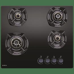 Elica CLASSIC FLEXI AB MFC 4B 60 MT 4 Burner Glass Built-in Gas Hob (Cast Iron Grids, 3083, Black)_1