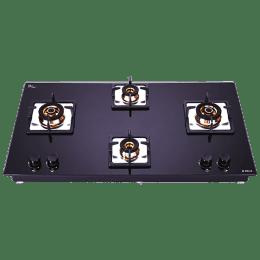 Elica Flexi FB HCT 491 DX 4 Burner Built-in Gas Hob (Automatic Ignition, 2937, Black)_1