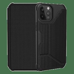 UAG Metropolis Leather Flip Case For iPhone 12 Pro Max (Compact and Flexible, X0018RFKUH, Fibre Armour Black)_1