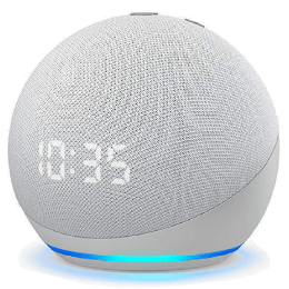 Amazon Echo Dot 4th Gen Alexa Built-In Smart Speaker (LED Display with Clock, B084J4MZQM, White)_1