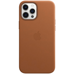 Apple Leather Back Case For iPhone 12 Pro Max (Magsafe Charging Accessibility, MHKL3ZM/A, Saddle Brown)_1