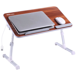 Portronics My Buddy Plus Portable Laptop Stand (USB 2.0 Connector, POR-895, Brown)_1