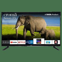 Croma 124.4cm (49 Inch) 4K Ultra HD LED Smart TV (Dual Box Speakers, EL7346N, Black)_1