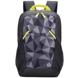 HP Lightweight 300GRY Air Mesh Laptop Backpack For 15 Inch Laptop (Padded Shoulder Straps, 1B3M6AA#ACJ, Lime Accents & Camoprints)_1