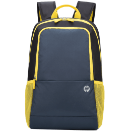 HP Lightweight INDIA100GRY Air Mesh Laptop Backpack For 15 Inch Laptop (Padded Shoulder Straps, 1B3M4AA#ACJ, Grey and Lime)_1