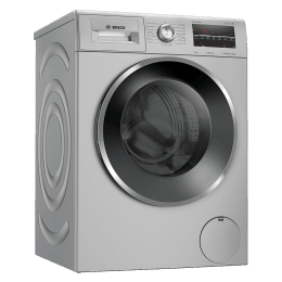 Bosch 8 Kg 5 Star Fully Automatic Front Load Washing Machine (WAJ2846SIN , Platinum Silver)_1