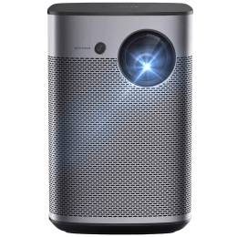 XGIMI Halo 1080p Smart Projector (DLP, 800 ANSI Lumens, Android TV 9.0 + Harman/Kardon Speakers + Indoor/Outdoor Smart Portable Projector with Google Assistant, White and Aluminium)_1