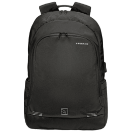 Tucano Forte Nylon Backpack For 15.6 Inch Laptop and 15 Inch MacBook Pro (Side Pockets, BKFOR, Black)_1