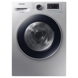 Samsung 7 kg/5 kg Fully Automatic Front Load Washer Dryer Combo (Hygiene Steam, WD70M4443JS/TL, Silver)_1