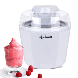 Lifelong 9.5 Watts Frozen Dessert Maker (Ice Cream, Sorbet, Slush and Frozen Yogurt Maker, LLICM15, White)_1