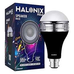 Halonix 9W LED Bluetooth Speaker Bulb (F5MNK4W0030580000, White)_1