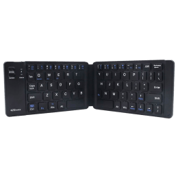 Portronics Chicklet Wireless Rechargeable Foldable Keyboard (Long Playtime, POR-793A, Black)_1