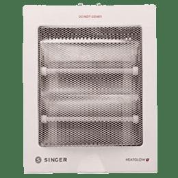 SINGER Heat Glow Plus 800 Watt Quartz Room Heater (White)_1