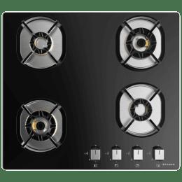 Faber 4 Burner Toughened Glass Built-in Gas Hob (Heat Resistant Knobs, Nexus HT604 CRS BR CI, Black)_1