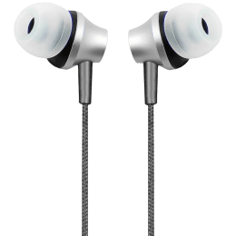 Crossloop Daily Fashion Series In-Ear Wired Earphone with Mic (Blocks Ambient Noise, CSLE105, Silver)_1