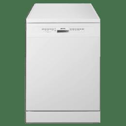 Smeg 13 Plates Place Setting Free Standing Dishwasher (Orbital Washing System, LVS222BIN, White)_1