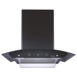 Elica 1200 m³/hr 60cm Filterless Chimney (Heat Auto Clean Technology, WDFL 606 HAC MS NERO, Black)_1