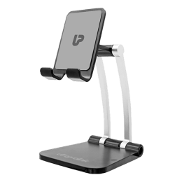UltraProlink Table Top Stand Universal Phone Holder for Tablets and Smartphones (Multi view Angle, UM1030, Black)_1