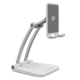 UltraProlink Table Top Stand Universal Phone Holder for Tablets and Smartphones (Multi view Angle, UM1030, White)_1